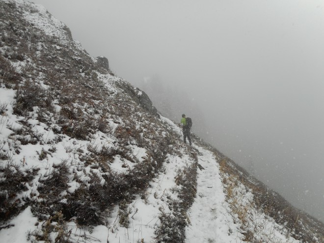 Mt. Defiance's 'Great Wall' on a snowy day