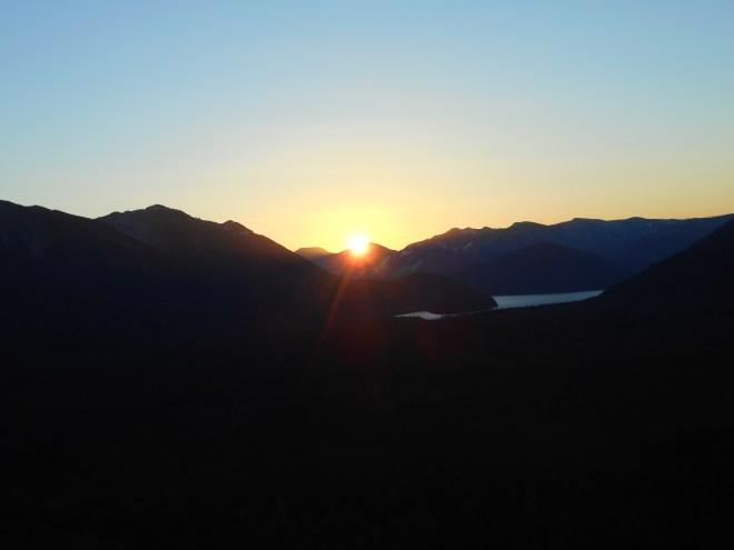 The actual sunrise