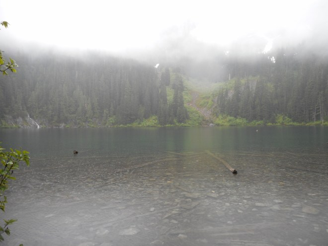 Annette Lake on a rainy day