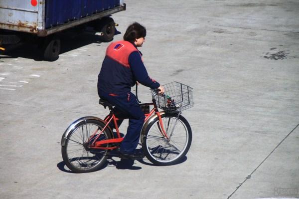 some dude on a bike