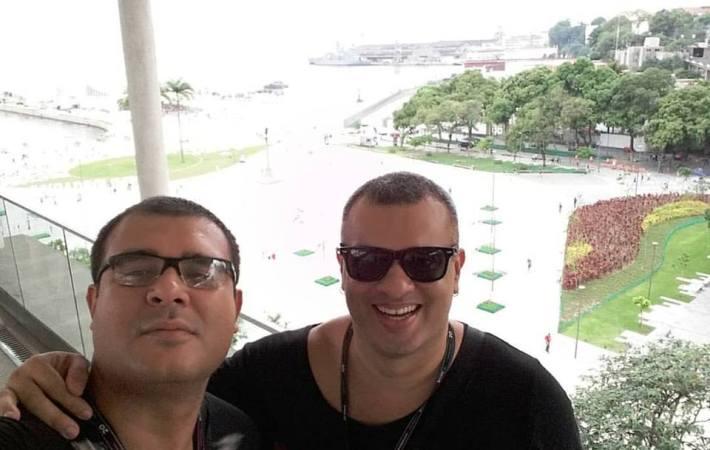 João Promoter e Andreller no Museu de Arte Rio