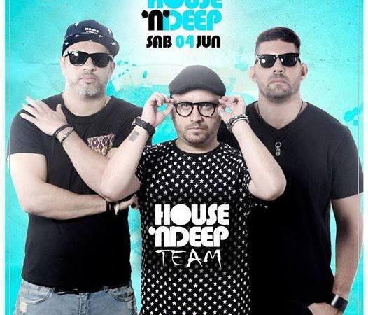 Andreller, DSalles e Fabio Araujo, trio House N Deep