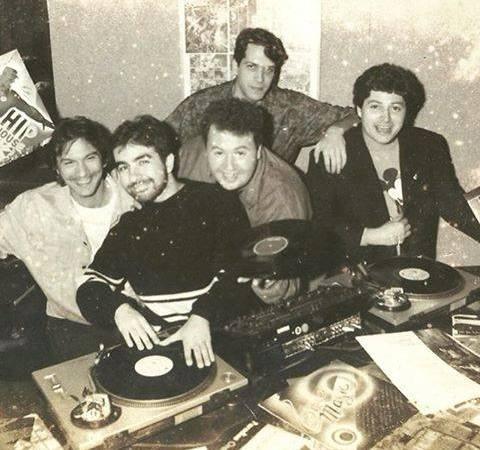 Amandio (à esquerda), Nino Carlo, Tonny DiCarlo, Serginho (atrás) e Bernard de Castejá, em registro Anos 90
