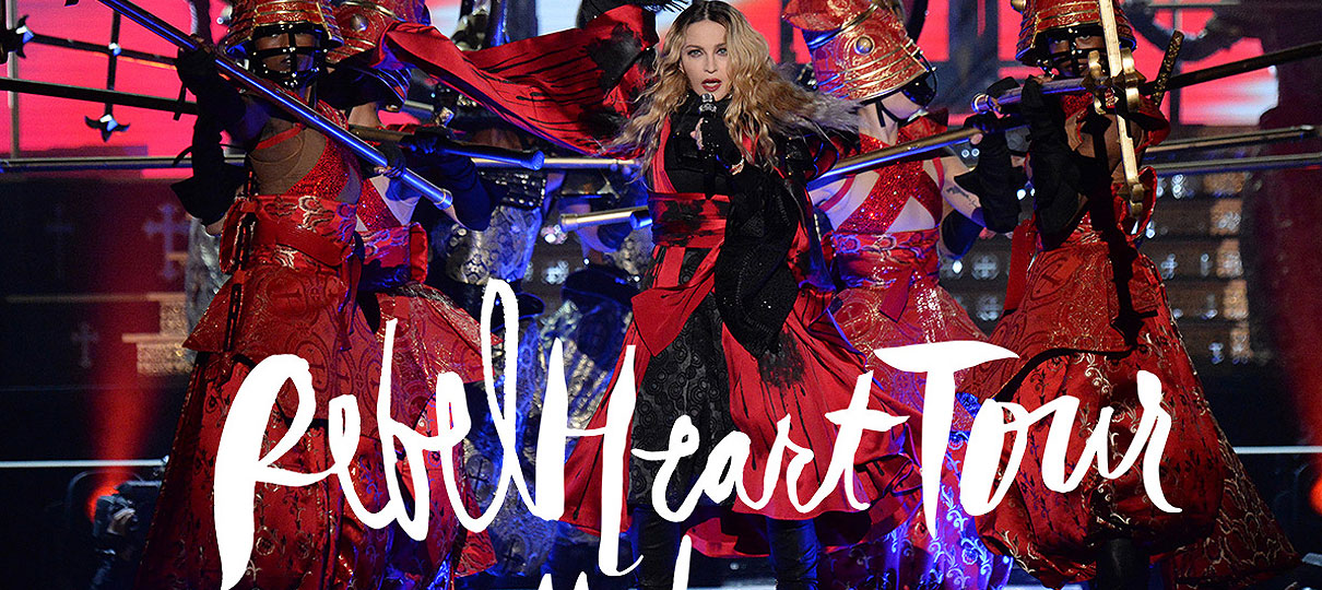 "Madonna lança dia 15 set Filme ""Rebel Heart Tour"""