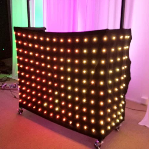1 x 2m rgb 3in1 colorful led video curtain professional decoration led light curtain