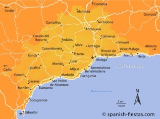 South Coast Of Spain Map.Costa Del Sol Espana S Southern Coast Dj S Wanderlust