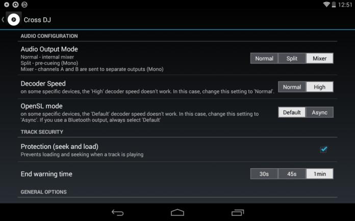 스플릿 케이블을 꽂으면 Audio Output Mode 에서 'Split', 'Mixer' 모드가 활성화 되어 선택이 가능해진다.