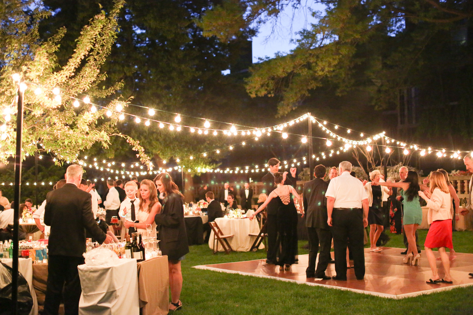 Country Chic Pool Party Reception