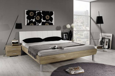 Glass bedroom furniture