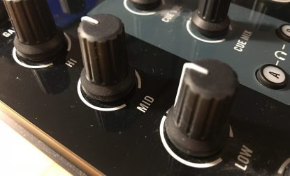 EQ filters on a DJ mixer