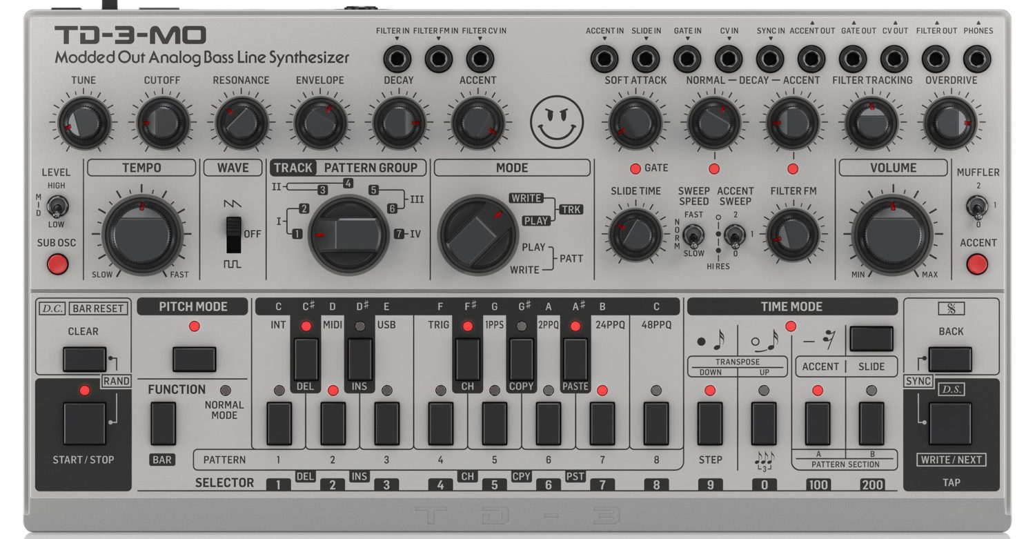 Behringer TD-3-MO – Their Devil Fish TB-303 Knockoff – Now Available