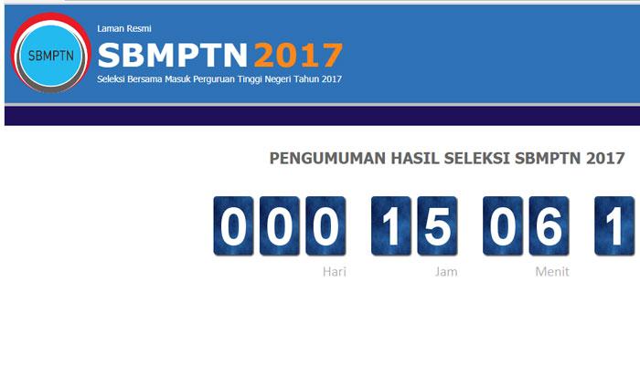 Pengumuman SBMPTN 2017