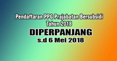 pendaftaran ppg prajabatan bersubsidi 2018 diperpanjang