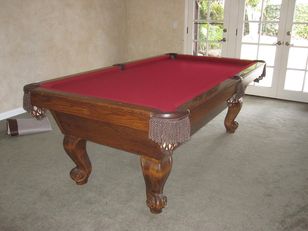 Murrey Pool Table Move Pool Table Service Billiard Supply Orange - Murrey billiard table