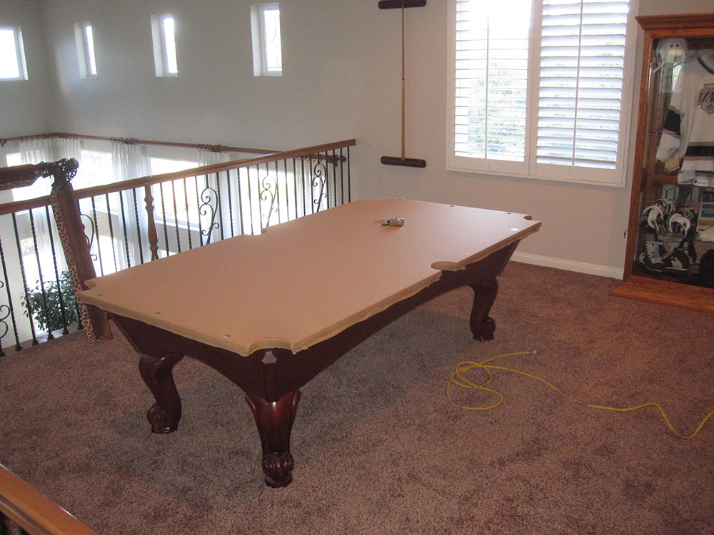 This Is An Eight Foot World Of Leisure Three Piece Slate Pool Table We  Serviced For Our Client In Chino Hills, CA. The Client Had Not Been Told By  The ...
