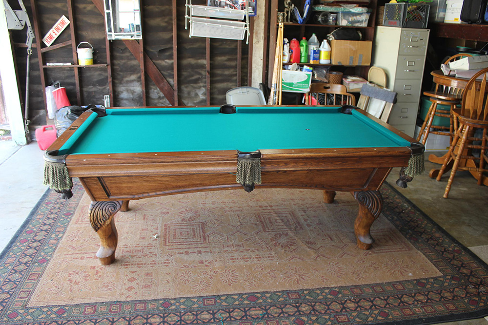 Hereu0027s A Recent Three Piece Slate Pool Table We Installed And Refelted In  Our Clientu0027s Long Beach, CA Garage. The Young Couple Recently Moved Here  From ...