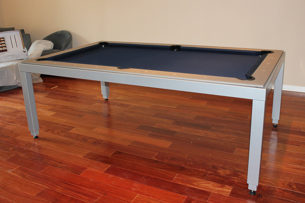 We Recently Delivered And Installed This Grey Oak Fusion Dining Pool Table  To Our Client In Pasadena, CA. The Fusion Comes In A Number Of Popular Wood  ...