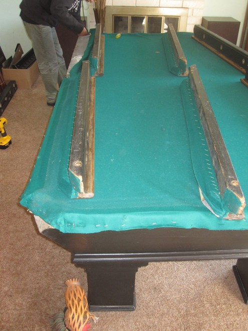 How To Disassemble A BrunswickBalkeCollender Pool Table Service - Brunswick pool table disassembly