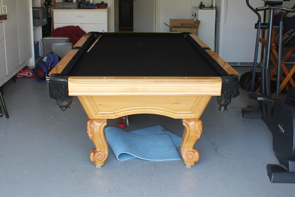 Can You Install A Pool Table In A Garage Pool Table Service - Pool table in garage