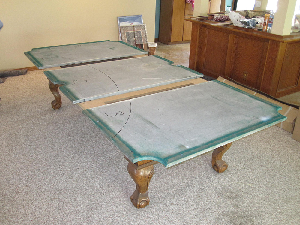 One Piece Slate Vs Three Piece Slate Pool Table Service - 4 x 8 brunswick pool table