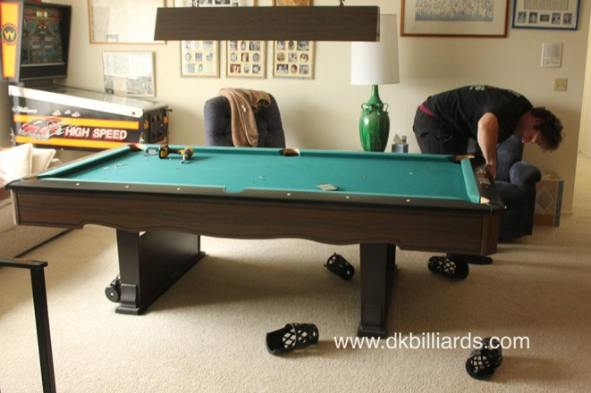 Marble Top Fischer Pool Table Pool Table Service Billiard Supply - Moving a pool table in one piece