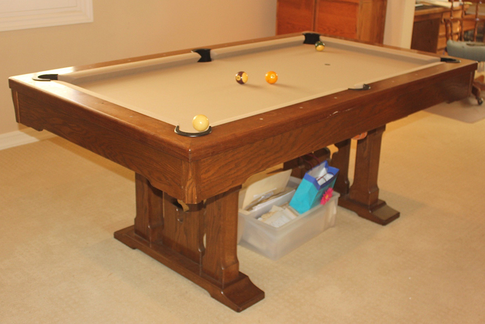 Great Just Finished Up This Little 6u2032 Pool Table In Newport Beach, California.  There Was No Name Plate, But Our Best Guess Is That It Was A Custom Build  By Regal ...