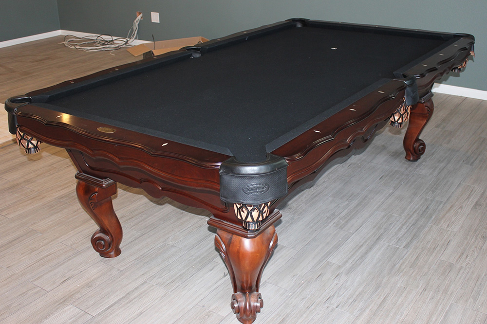 Black Felt, Black Pockets We Just Finished This Olhausen Pool Table Setup  In Pomona, California. The Black Billiard Cloth Is A Non Traditional  Choice, ...