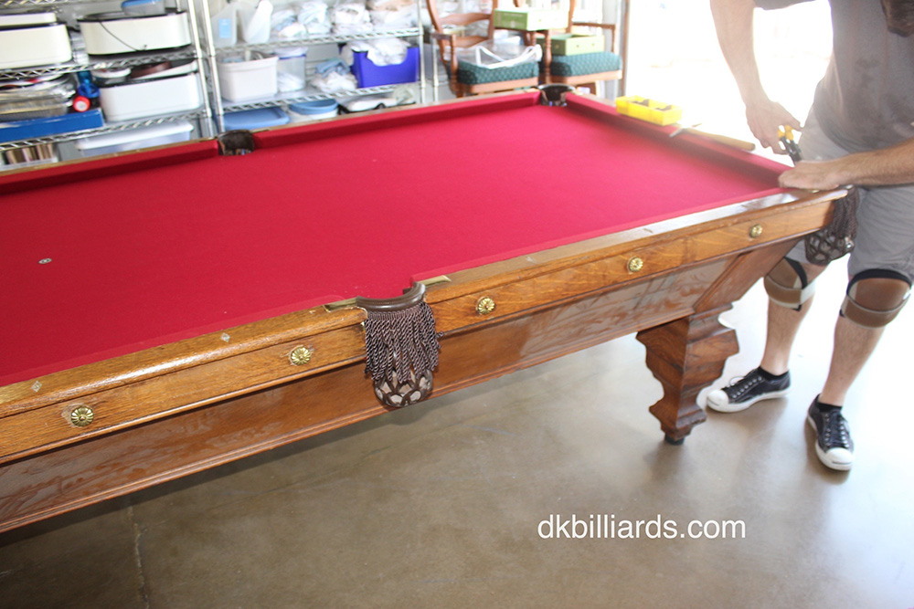Refelting Archives Page Of Pool Table Service Billiard - Pool table no pockets