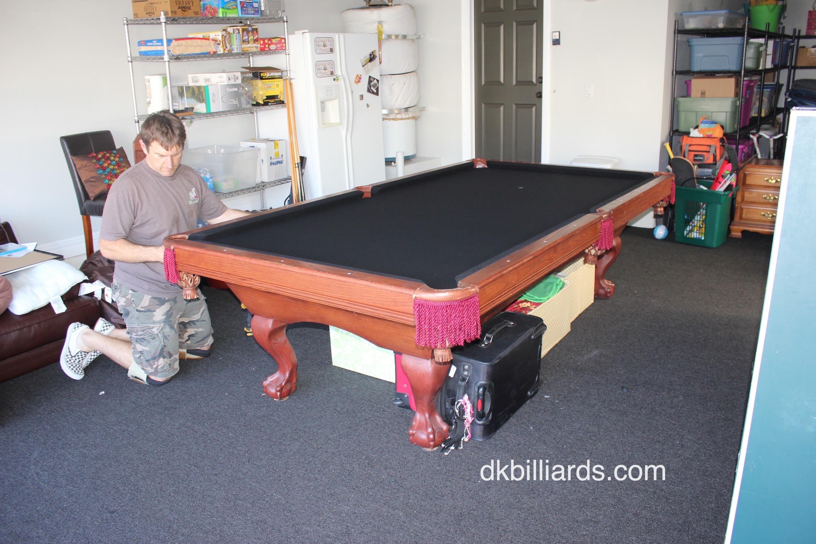 We Were Called Out To This Irvine, California Home To Reassemble A Nine  Foot Camelot Pool Table. The Homeowner Hired A Moving Company To Move The  Billiard ...