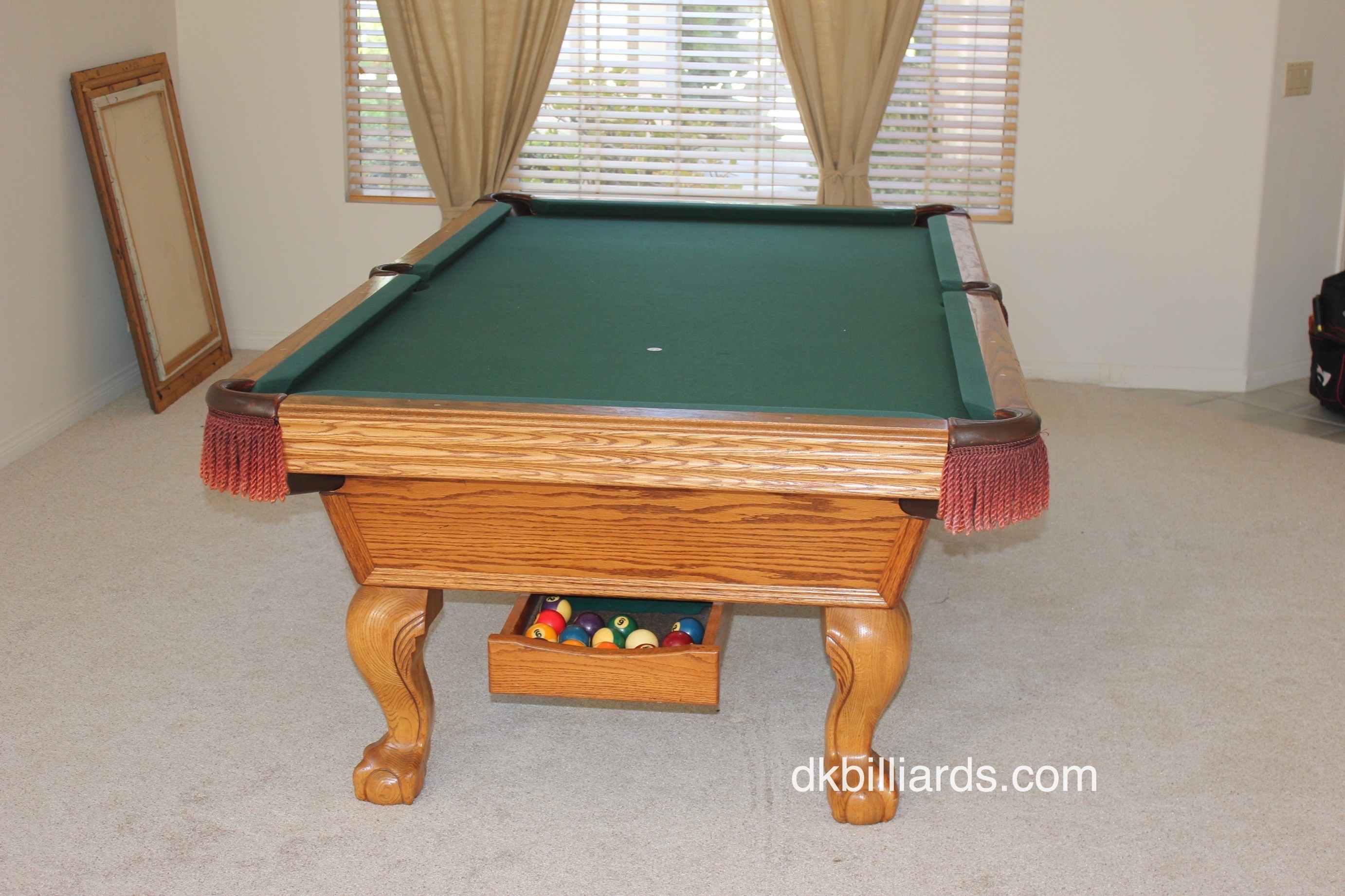 We Recently Came Across This Unusual 8u2032 Olhausen Ball Return Pool Table.  The 20+ Year Old Pool Table Had Been Stored For A Year And Found New Owners  In ...