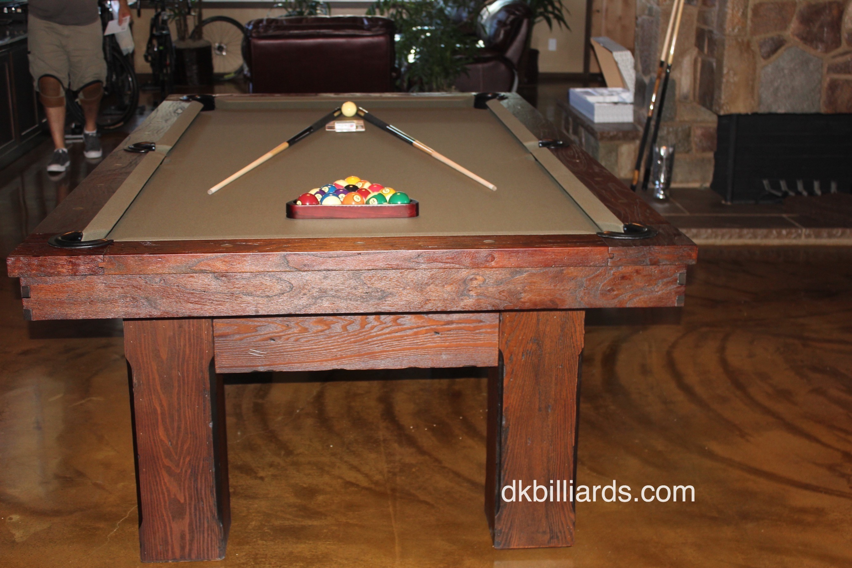 This 8u2032 Watson Gives This Santa Ana, California Game Room A Nice Rustic  Vibe. Clean Modern Lines, Paired With Roughly Textured Oak Was A Winner For  This ...