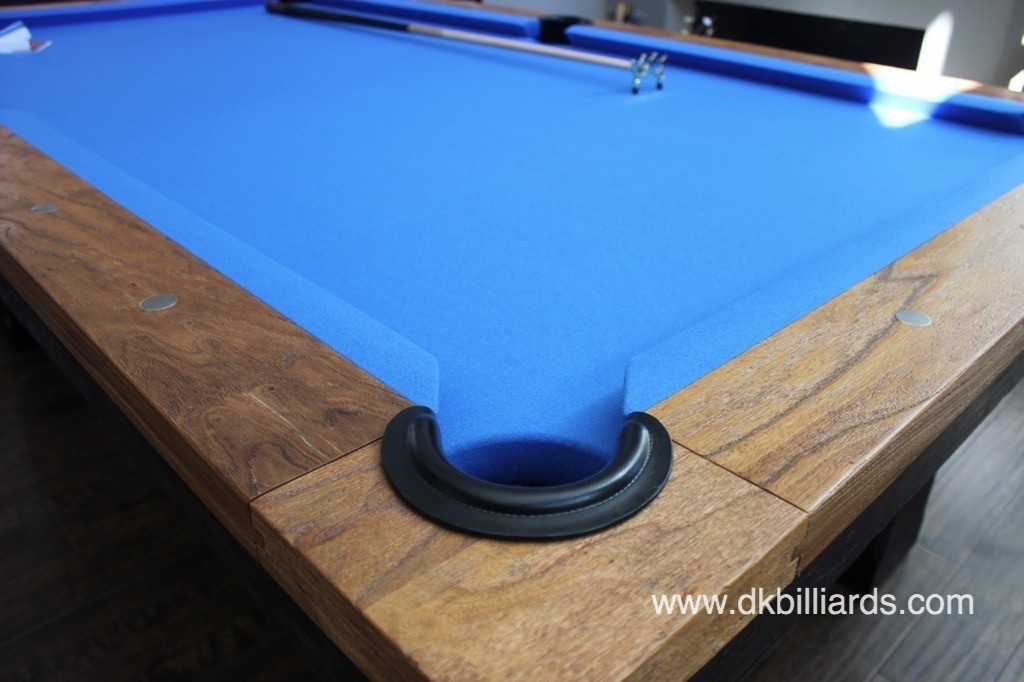 Twotone Rustic Pool Table Install Pool Table Service Billiard - How to install pool table felt