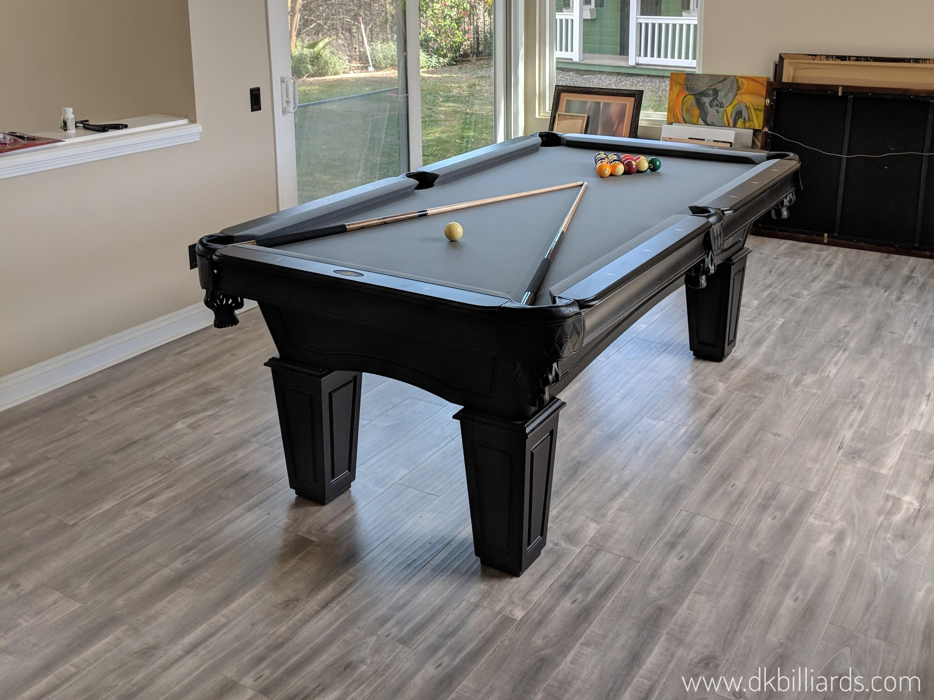 Black Stain 7u2032 Pool Table Simple Can Be A Beautiful Thing. Our Orange,  California Customers Chose A 7u2032 Nash With A Black Stain. They Converted  Their Formal ...
