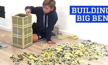Building Big Ben with Lego Bricks