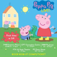 PEPPA PIG HEADS TO PRETORIA JUNE 2018