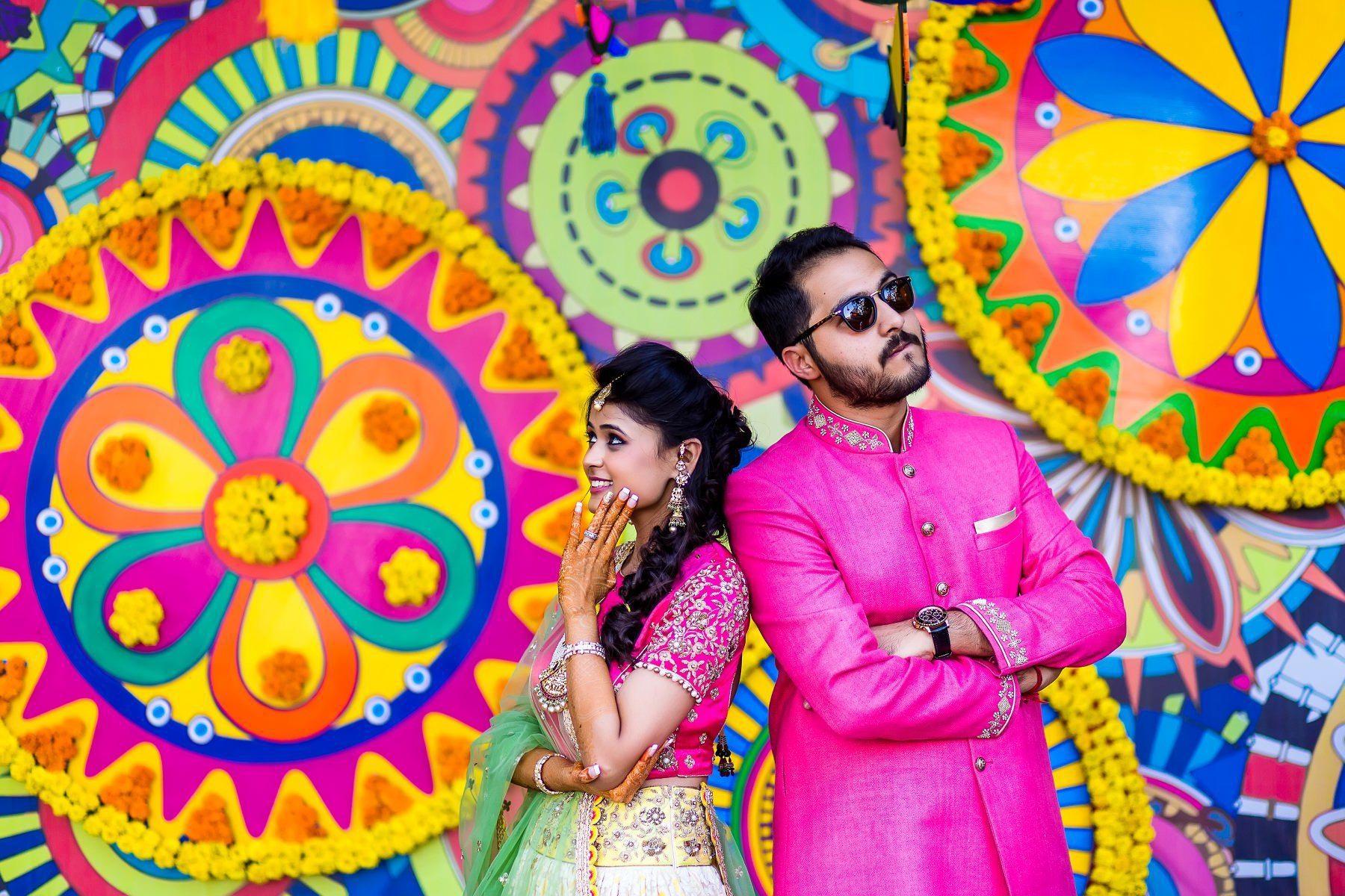 Mela Themed Colorful Mehndi Sangeet Wedding Photography Ahmedabad ...