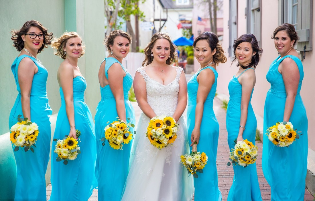 St Augustine Colorful Roof Top Wedding Photos