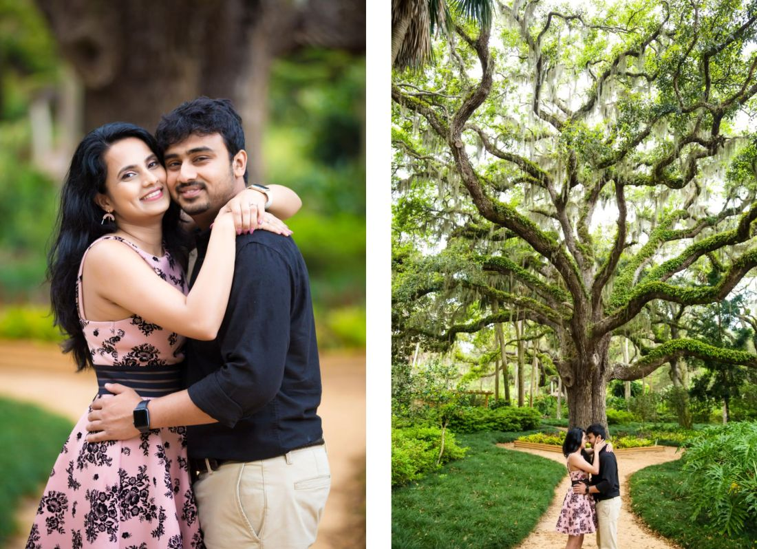 washington oaks state park engagement photography
