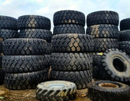 one of the commercial truck tire services we provide is mounting these big tires