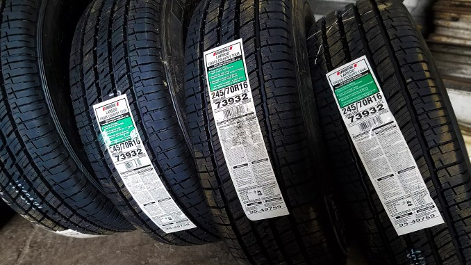 Check out this page for new tires