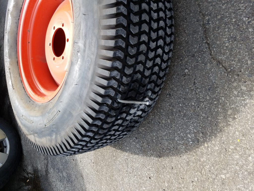 That's one way to kill a tire