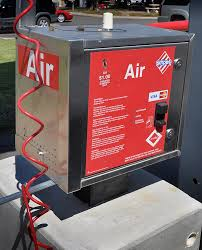 You might find this sort of air pump at a gas station