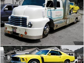 Check out bertha hauling this mustang