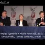 Przegląd Tygodnia – 12.10.2105 (Tomaszewska, Sakiewicz, Trzmiel)