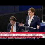 Polska Premier Szydło uczy Schulza demokracji w Brukseli