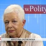Krystyna Grzybowska o paradzie zdziczenia