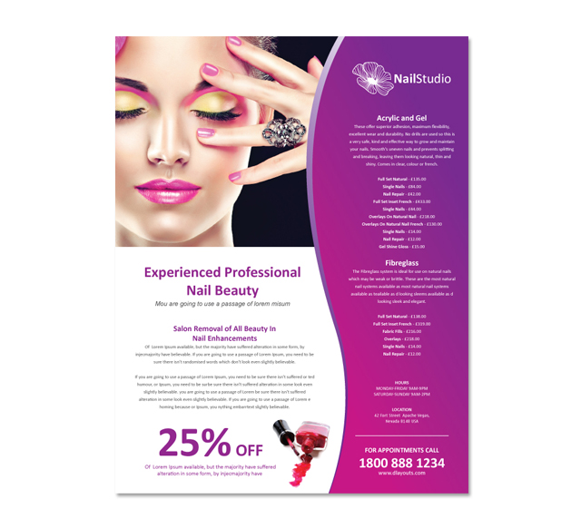 Natural Hair Salon Menus