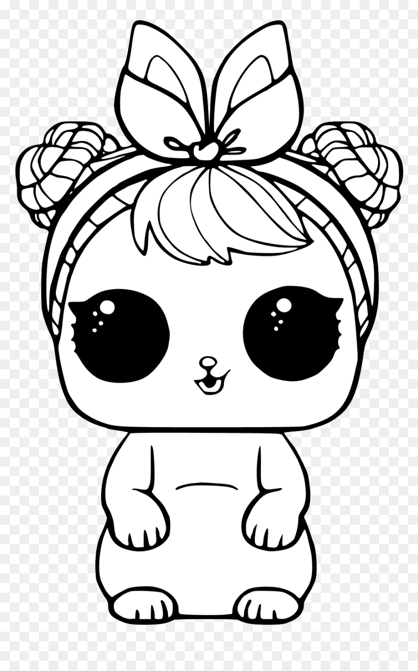 L O L Surprise Doll Png Lol Little Sister Coloring Pages Transparent Png 1024x1400 Png Dlf Pt