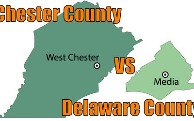 Delaware County Vs. Chester County