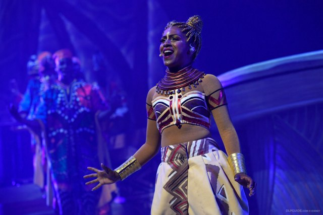 Nala in The Lion King: Rhythms of the Pride Lands musical stage show at Disneyland Paris